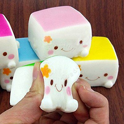 6cm Squeeze Tofu Elasticity Stress Stretch Reliever Squishy Soft Slow Rising Toy