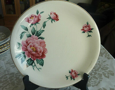 British Anchor Cake Or Dinner Plate Made In England  Pink Paeony