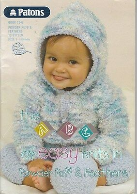 Patons Baby Knitting Pattern Book #1242 - Sizes 0-18 Months