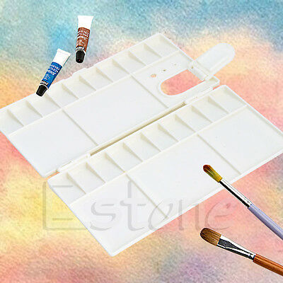 25 Grids Large Art Paint Tray Artist Oil Watercolor Plastic Palette White