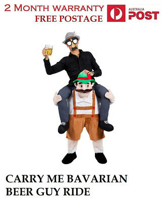 Piggy Back Shoulder Carry Me Stag Fancy Dress Costume Mens Party Outfit Ride On~