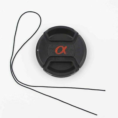 New 55 mm Snap-On Front Lens Cap Dust Safety Front Cover For Sony Alpha DSLR