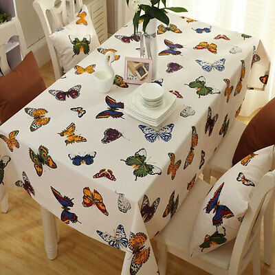 Tablecloth Dining Kitchen Wipe Clean Table Cover Butterfly Tablecloth 70x70cm