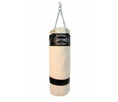 Last Punch High Quality Heavy Duty Black Canvas Punching Bag With Chains