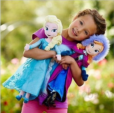 2pcs 40cm Disney Frozen Elsa&Anna princess stuffed Soft plush toy doll for girls