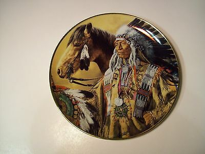 American Indian Foundation PRIDE OF THE SIOUX PORCELAIN PLATE LIMITED EDITION