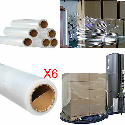6x Strong Roll-Transparent-Stretch-Shrink-Wrap Cast Parcel Packing Cling Film