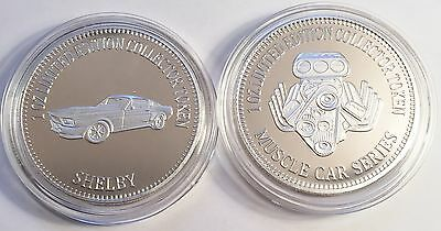 """""""FORD SHELBY MUSTANG"""" Muscle Car Series 1 0z HSE 999 Silver Coin/token LTD"""