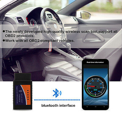 OBD2 ELM327 Bluetooth Car Interface Diagnostic Scanner Reader Tool Android
