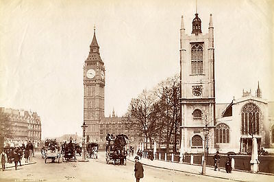 Albumen Exceptional LONDON England Photograph Westminste London Steroecopic 1870
