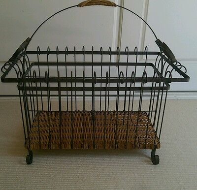 SHABBY CHIC COUNTRY FRENCH PROVINCIAL WROUGHT IRON MAGAZINE RACK Pick Up Coogee