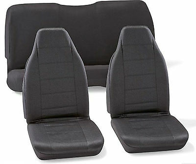 Black Car Seat Covers Universal Front Interior Back Cover Set (3) Toyota NEW