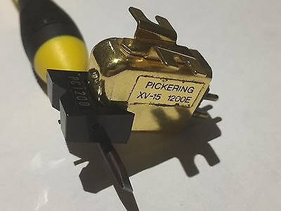 Pickering XV15-1200E Cartridge and Stylus for Turntable Record Player