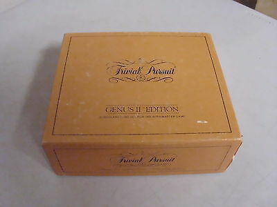 Trivial Pursuit Genus Ii Edition Board Game Subsidiary Cards