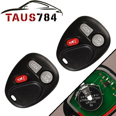 2 New Replacement Keyless Entry Remote Key Fob Transmitter Clicker for 15042968