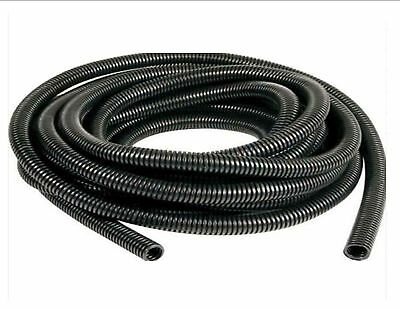 Black spiral conduit tube pipe non-split audio TV cable wires tidy 6.5mm - 23mm