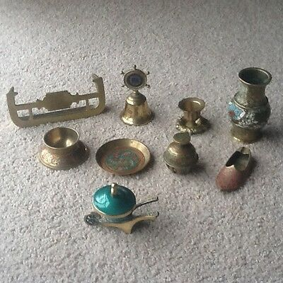 Vintage Brass Ornaments - Nine Pieces - Collectable