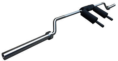 NEW PowerGym Fitness Commercial Olympic Safety Squat Bar 7ft Barbell