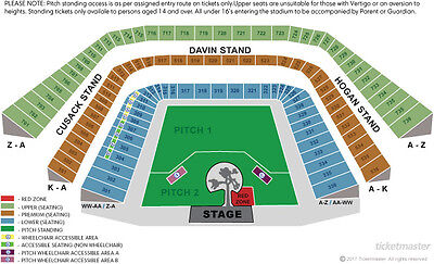 U2 Tickets Pitch 2 Croke Park 22/07/17 Price For 1 Ticket