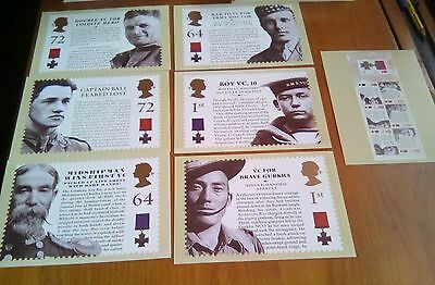 2006 Victoria Cross PHQ 290 - Mint Set of  Royal Mail Post Cards