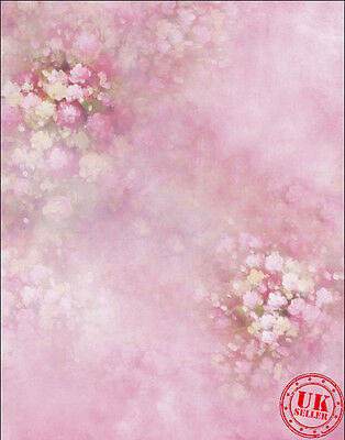 ROSE PINK FLOWER BABY GIRL BACKDROP BACKGROUND VINYL PHOTO PROP 5X7FT 150x220CM