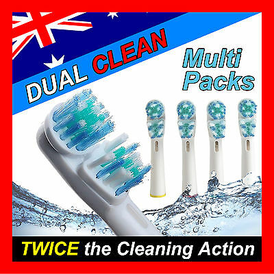 Dual Clean Oral B Compatible Electric Toothbrush Replacement Brush Heads x20pcs