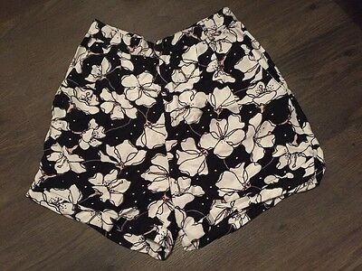 River Island Size 12 High Waisted Mom Floral Shorts