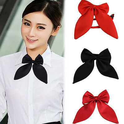 Women Girls Cute Party Adjustable Bow Neck Tie School Uniform Accessories