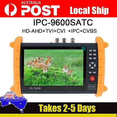 IPC9600SATC Touch Screen Onvif IP HD-AHD/TVI/CVI Analog CCTV Cam Tester Monitor