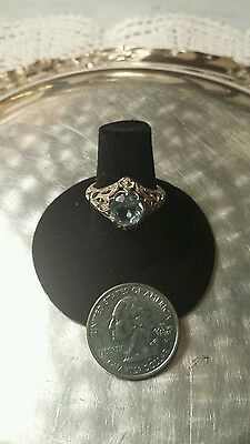 Vintage style sterling silver fillagree ladies ring size 7