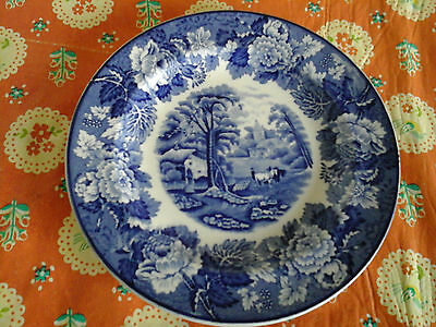 Blue And White Plate From Woods Ware