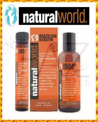Natural World Brazilian Keratin Treatment Blow Dry Hair Straightening Oil