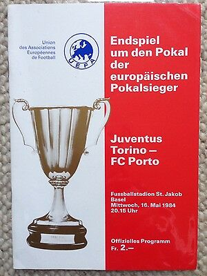 1984 CUP WINNERS CUP FINAL - JUVENTUS v FC PORTO