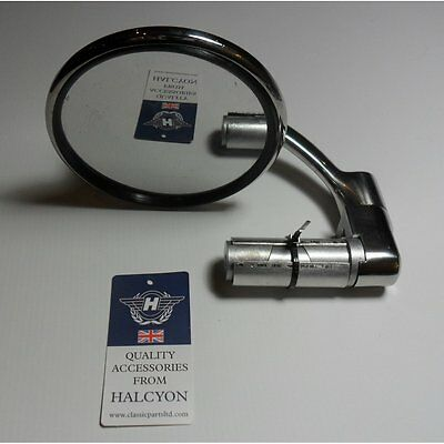 Halcyon Bar End Mirror Stainless steel