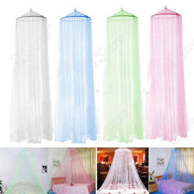 Elegant Lace Bed Mosquito Netting Mesh Canopy Princess Round Dome Bedding Net UP