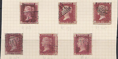 Gb. Qv 1858 Penny Red Plate Numbers