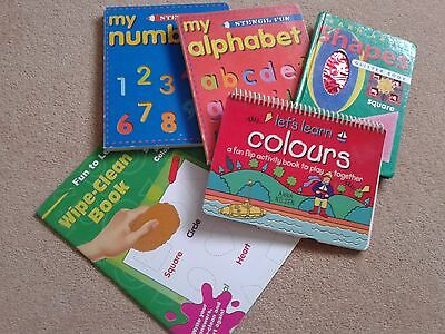 Early learning books, Numbers,letters,shapes,colours
