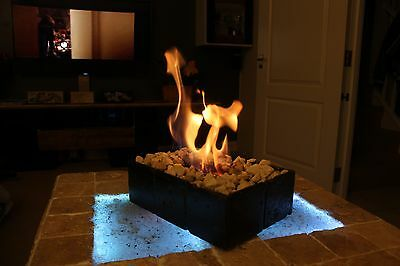 Bio Ethanol Fireplace In/Outdoor Patio Heater/Travertine Table  Top Fireplace