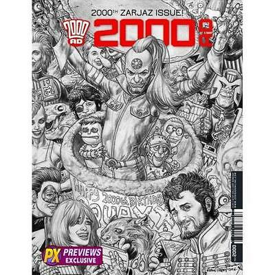 2000Ad #2000 Judge Dredd Px Exclusive Black & White Variant Fabry