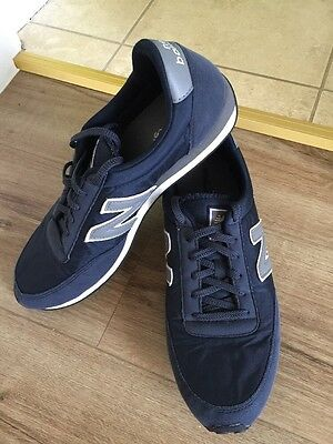 Size 10 Navy Suede New Balance Trainers Worn Once