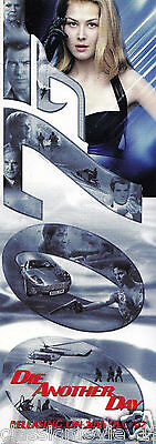 007 James Bond Die Another Day Original Book Mark With Release Date