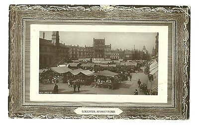Leicester - a photographic postcard of Market Place
