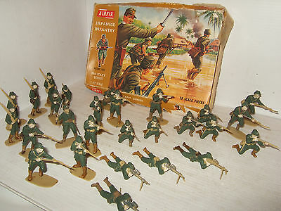 Rare Airfix 1768 Japanese Infantry in Various Poses 1:32 Scale Part -Painted.