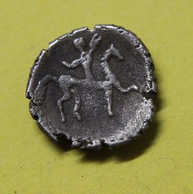CELTIC, Uncertain Silver Coin with horse and rider c 100 BC