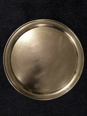 Stainless Steel Round Catering Serving Tray Heavy Duty Diameter 350 Mm