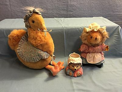 Beatrix Potter Chicken and Hedgehog Tiggy Winkle Hedgehog  lot