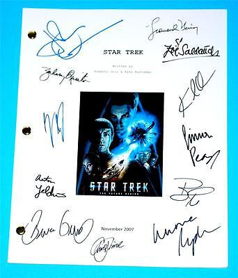 Star Trek Movie 2007 Script Rpt Leonard Nimoy  Chris Pine   Zachary Quinto