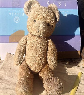 Bel OURS EN PELUCHE ANCIEN fabrication    TEDDY