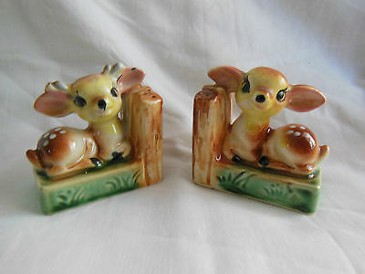 Pair Of Vintage Bambi Salt And Pepper Shakers.