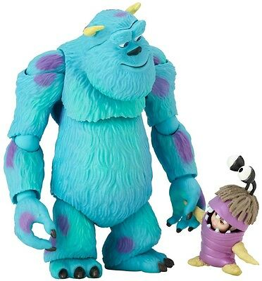 Kaiyodo Revoltech Disney Pixar Monsters Inc Sully and Boo Figure Free shipping